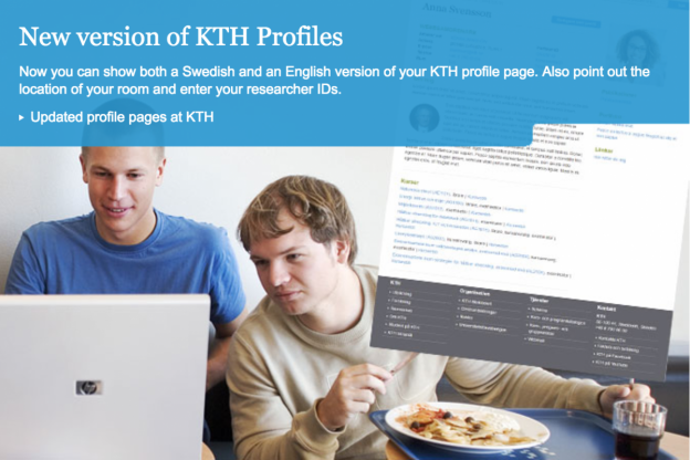 New profile pages for researchers, staff and students at KTH
