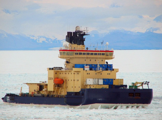 The Swedish Icebreaker, Oden, will take Krützfeldt and other scientists into  the Arctic Ocean this summer.