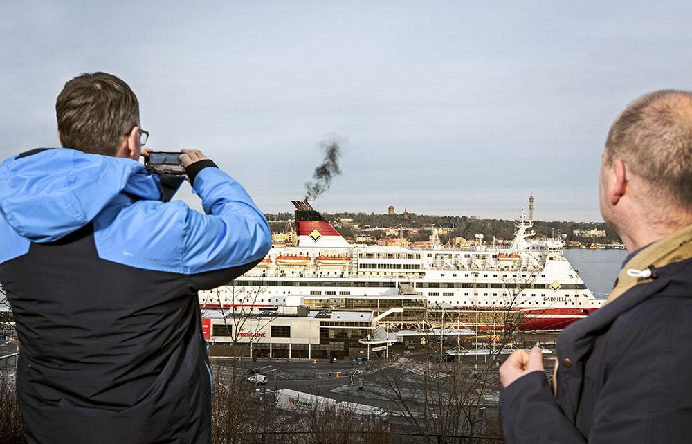 Christophe Duwig och Klas Engvall i Stockholm, december 2019(Foto: Håkan Lindgren)