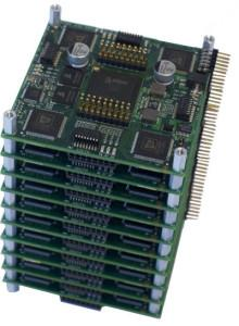 Stacking boards with four 1 K neuron chips is possible