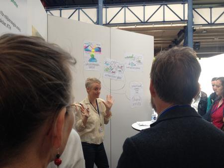 Lina Isacs presents her upcoming work at Havs- och vattenforum 2015 in Gothenburg.