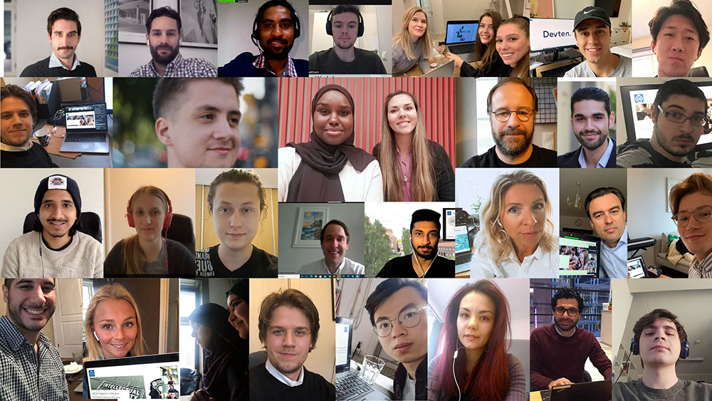 Collage of selfies of the teams in Batch 12