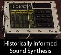 Historically Informed Sound Synthesis