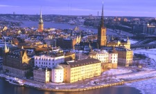 Stockholm aerial view in winter