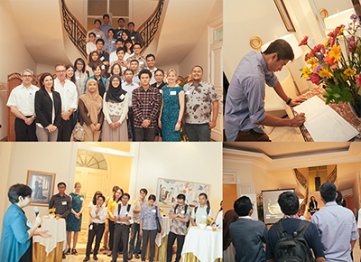 Collage of photos from a KTH alumni networking event