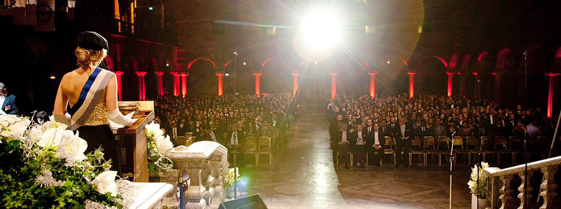 Graduation ceremony in Stockholm City Hall