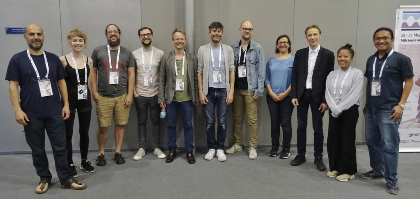Group photo of Sound and Music Computing team