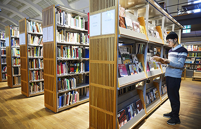 Books and journals in the North gallery