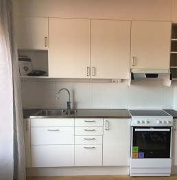 A kitchen in a KTH Relocation apartment
