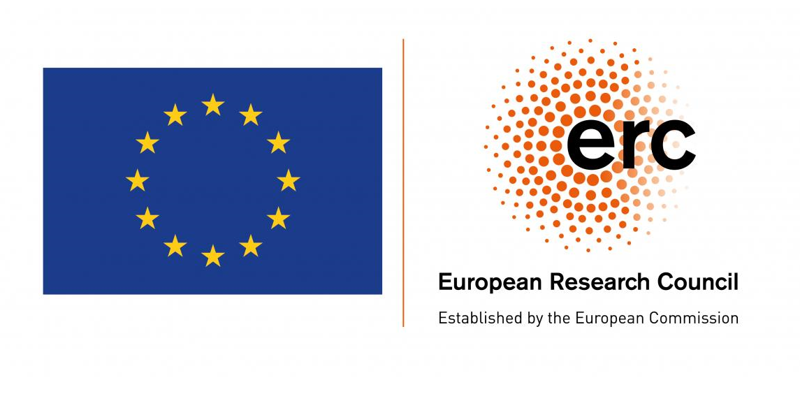 the EU flag and the ERC logotype