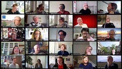 Online storträff meetings in 2020/2021